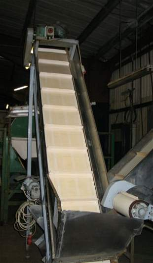 7: Stainless steel inclined flighted belt conveyor
