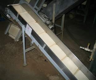 9: Inclined flighted belt conveyor 2.2m x 320mm wide