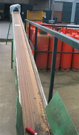 11: Inclined belt conveyor 7.5m x 320mm wide