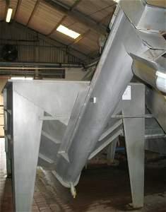 21: Dodman Stainless steel holding tank hopper