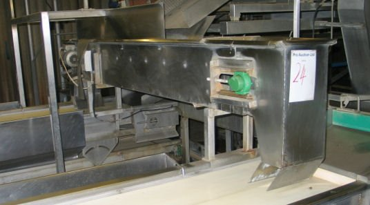 24: Stainless steel twin depositing conveyor