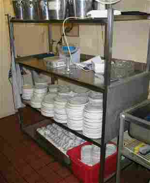 Stainless steel four tier rack 470mm x 600mm x 1.6m