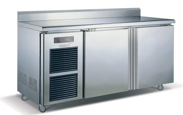 6: 2 Door Stainless Steel Counter Fridge 0 to 10°C 910x