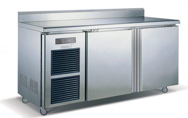 8: 2 Door Stainless Steel Counter Fridge 0 to 10°C 910x