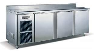 3 Door Stainless Steel Counter Fridge 0 to 10°C 910x
