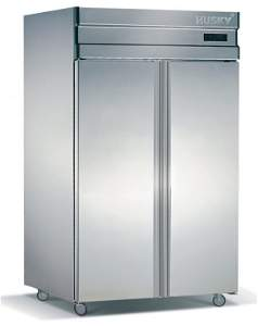 68: Double door Stainless Steel upright Fridge 1030 Ltr