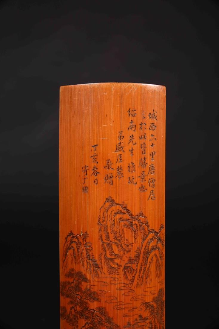 CHINESE BAMBOO CARVED BIGE - 2