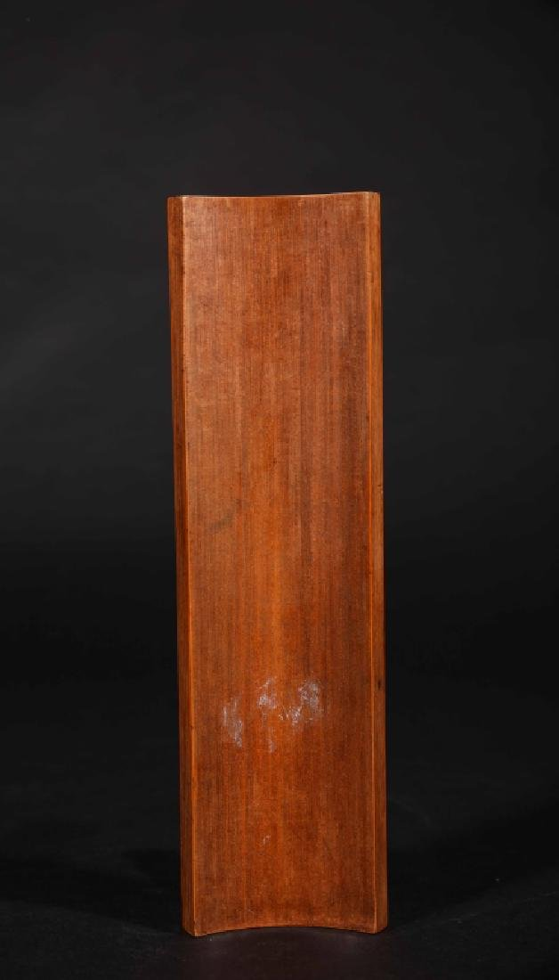 CHINESE BAMBOO CARVED BIGE - 3