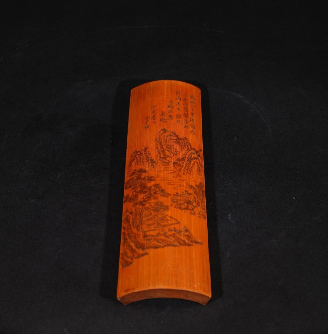 CHINESE BAMBOO CARVED BIGE - 6