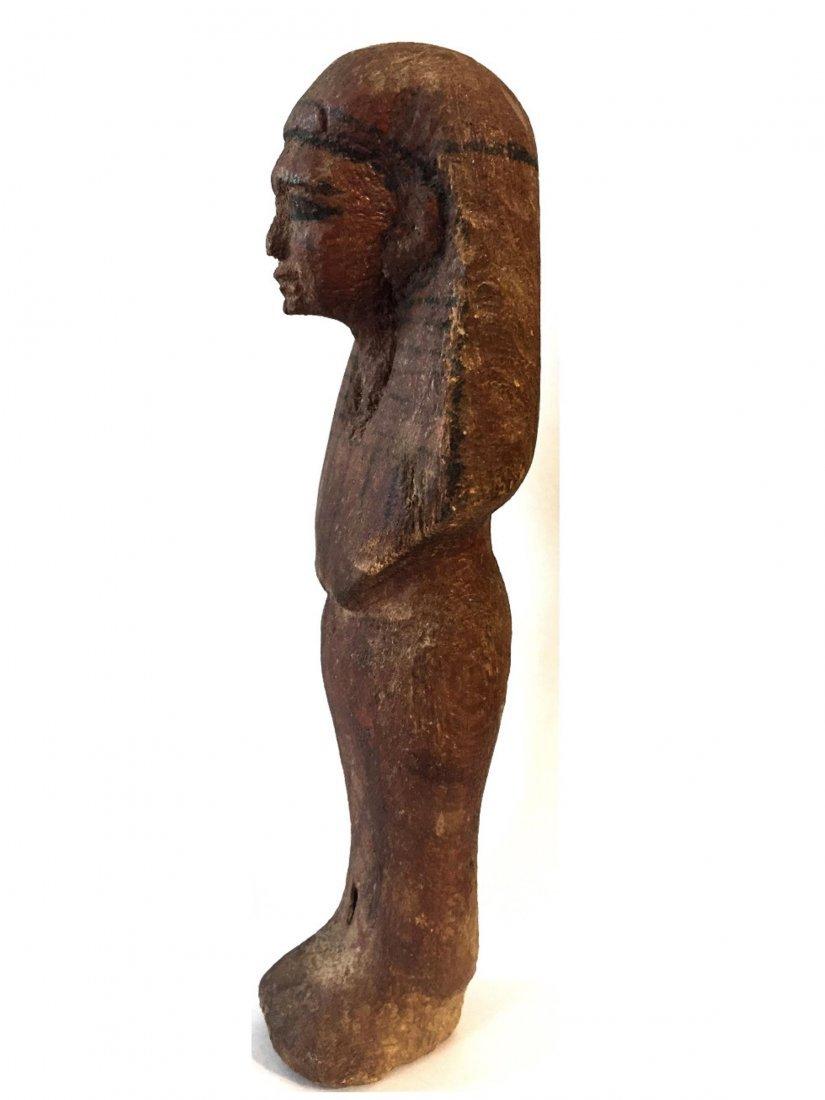 ANCIENT EGYPTIAN WOOD USHABTI - 2