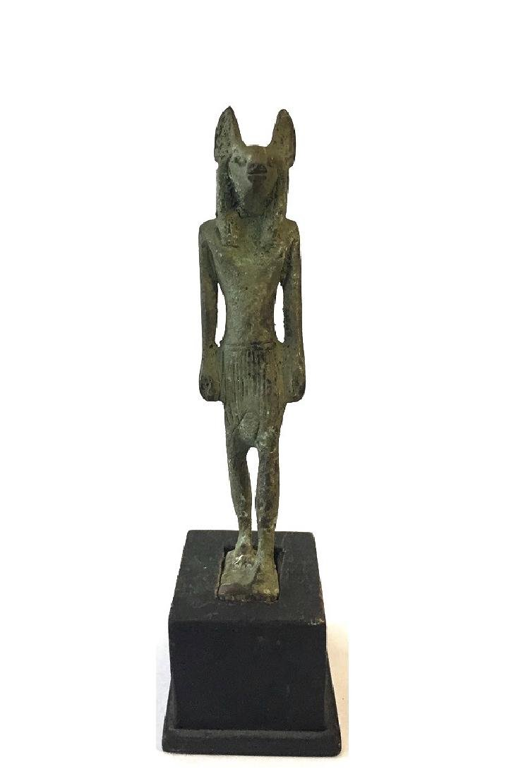 ANCIENT EGYPTIAN BRONZE OF ANUBIS