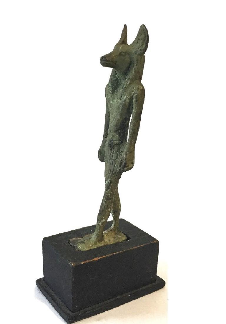 ANCIENT EGYPTIAN BRONZE OF ANUBIS - 2
