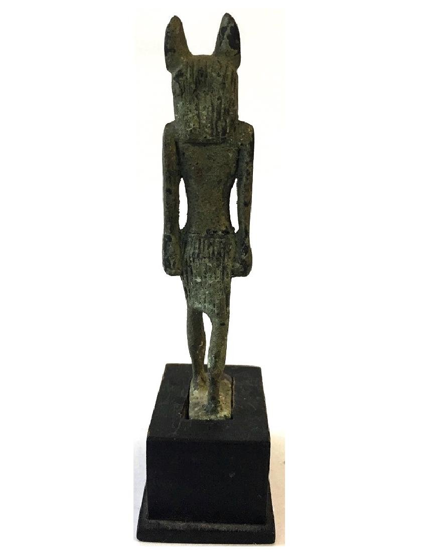 ANCIENT EGYPTIAN BRONZE OF ANUBIS - 3