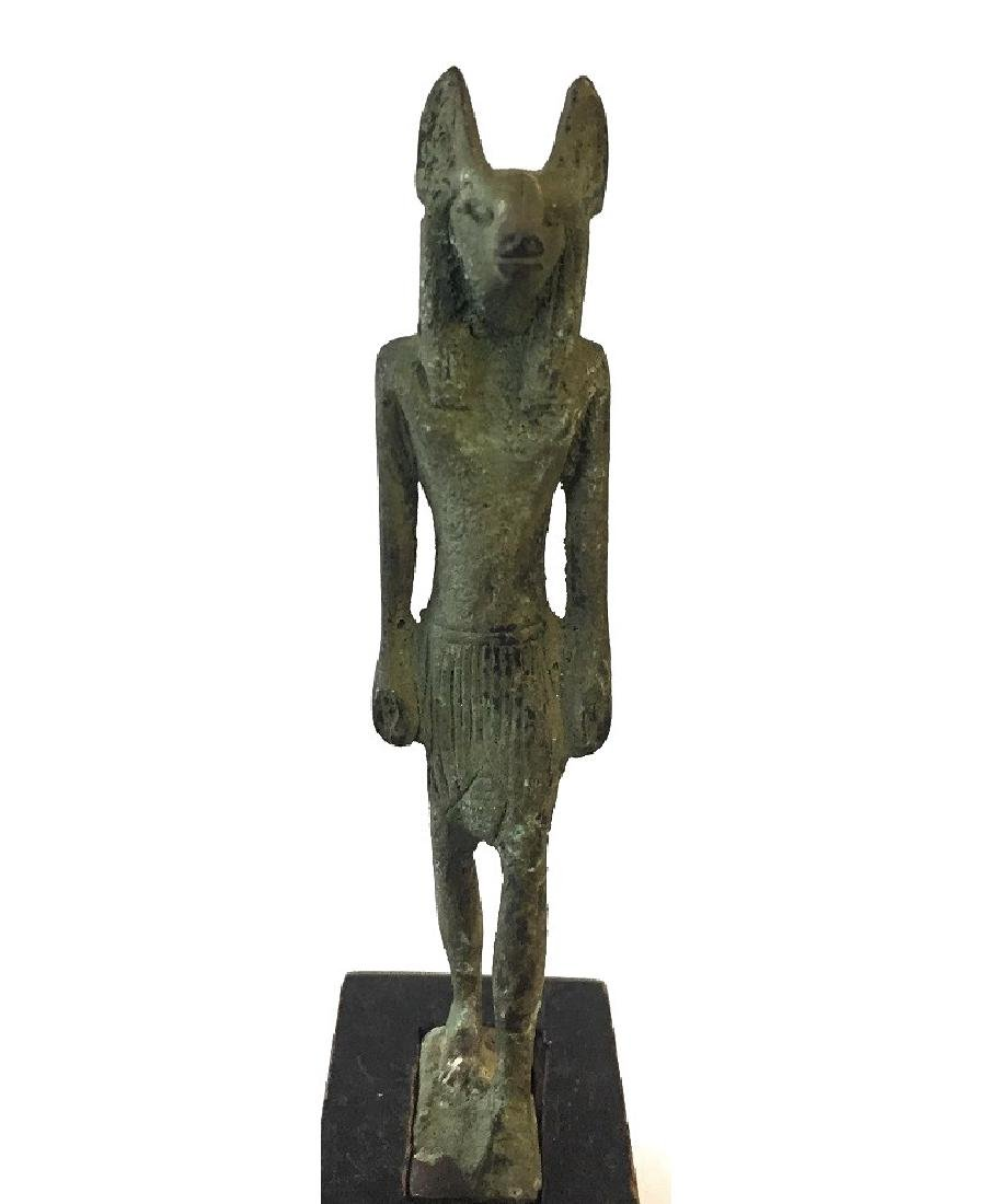 ANCIENT EGYPTIAN BRONZE OF ANUBIS - 4