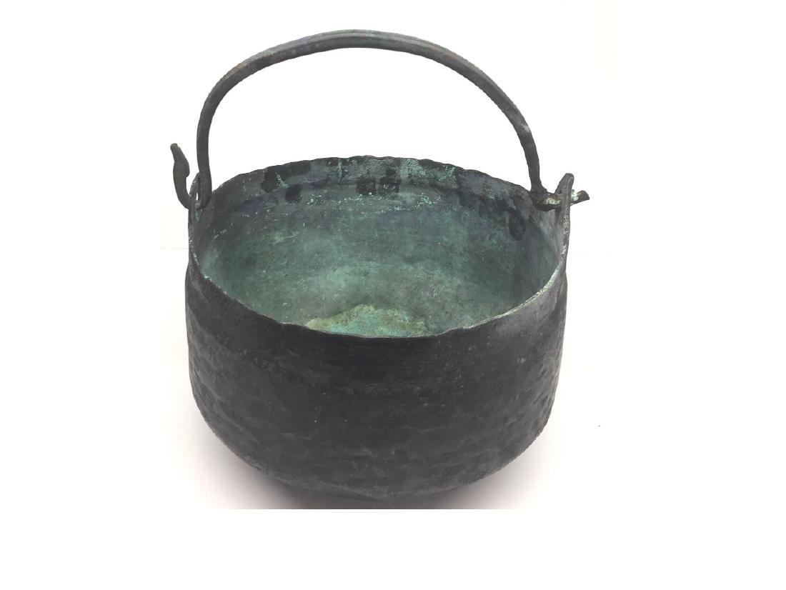 LARGE ANCIENT ROMAN BRONZE BOWL - 2