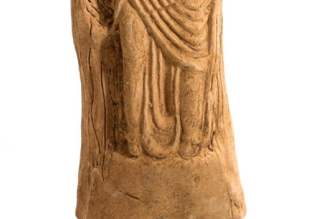 Ancient Romanhollow clay Female Idol - 4