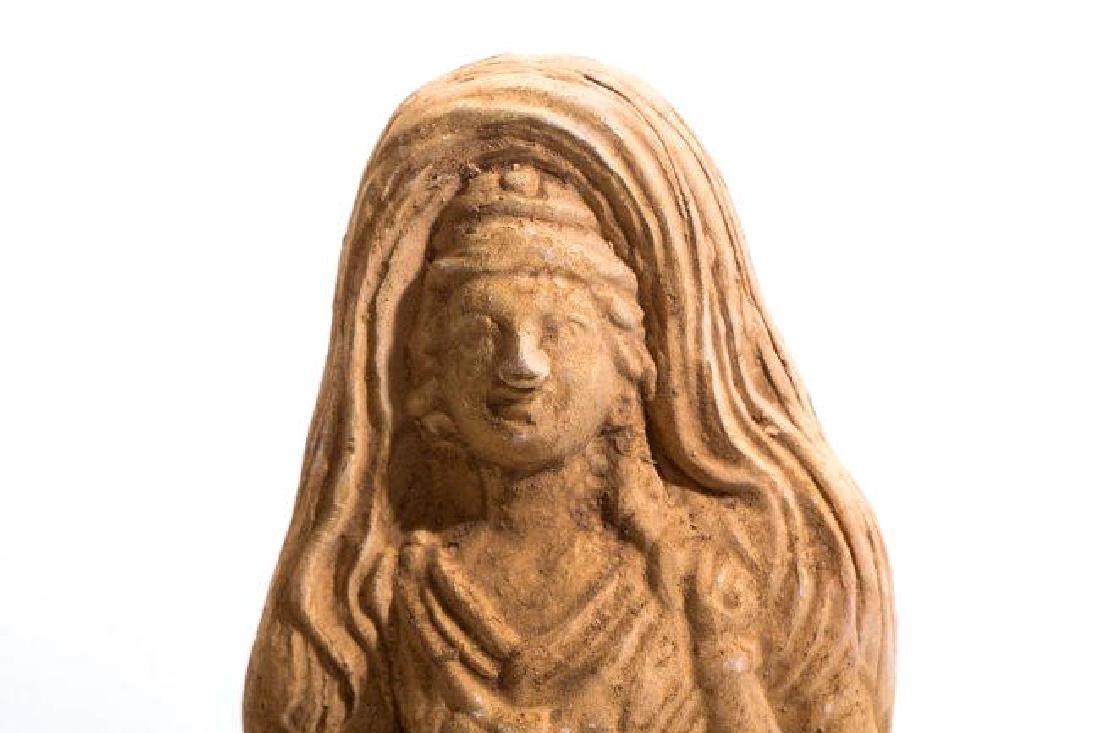 Ancient Romanhollow clay Female Idol - 5