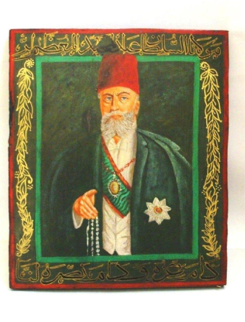 ISLAMIC OTTOMAN OLD PAINTING ON WOOD