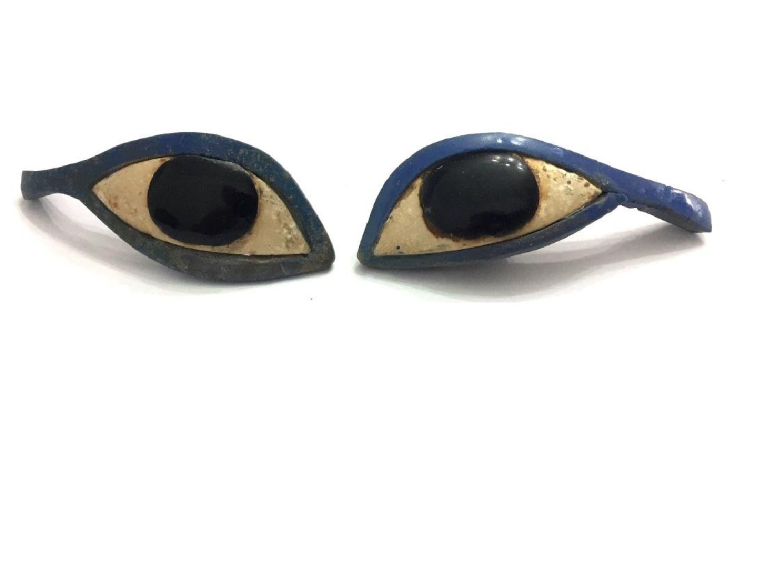 Ancient Egyptian Pair of Glass Eye Inlays
