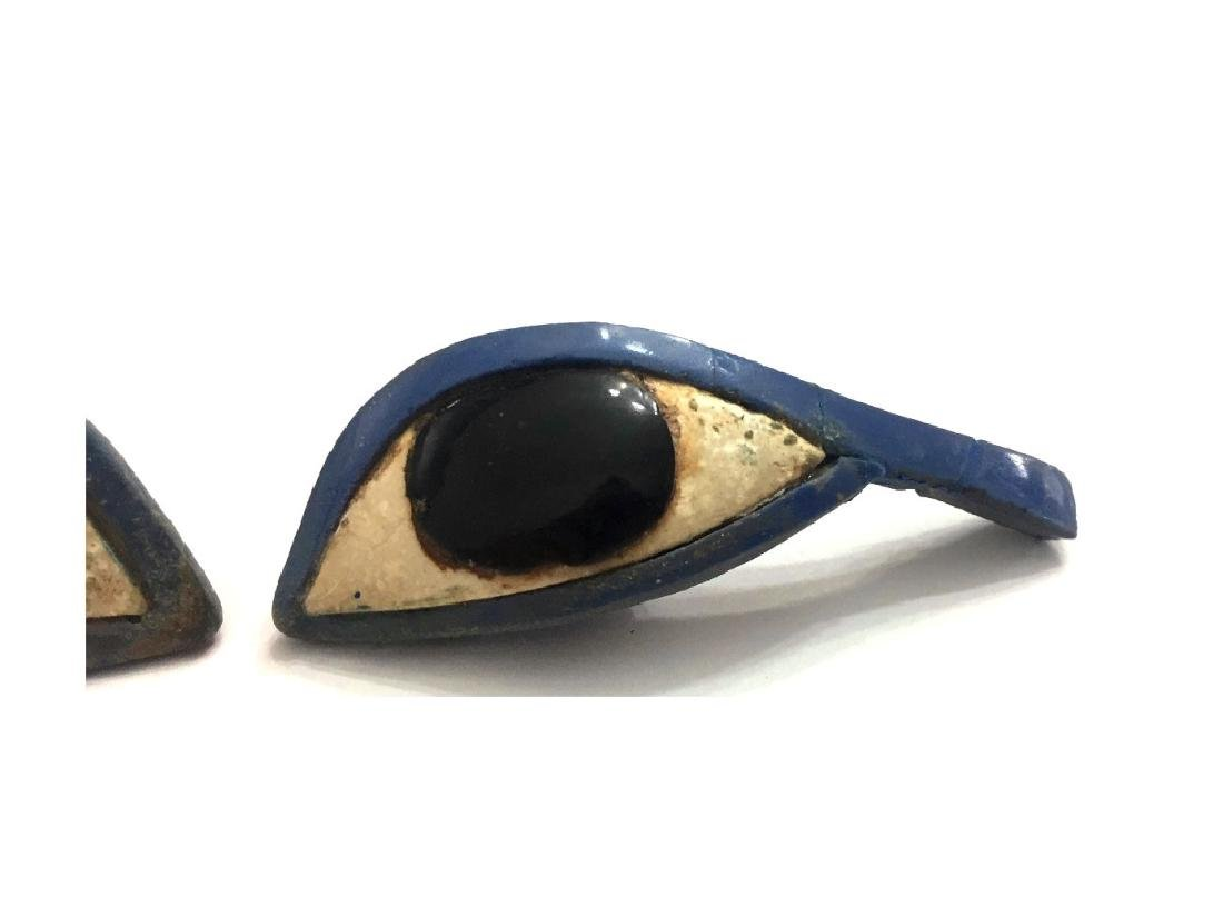 Ancient Egyptian Pair of Glass Eye Inlays - 3