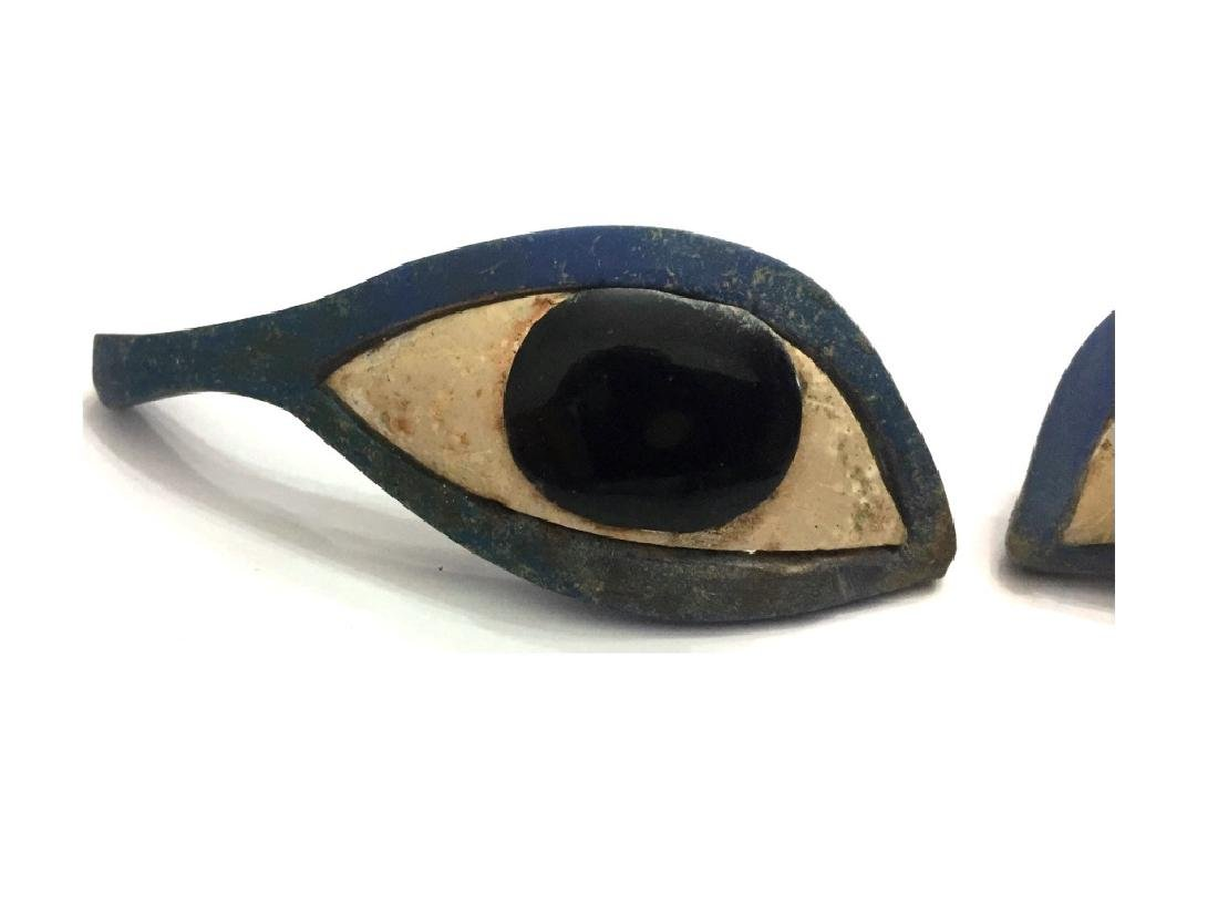 Ancient Egyptian Pair of Glass Eye Inlays - 4