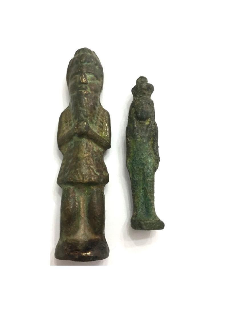 Lot of 2 Ancient Near eastern Bronze Idol