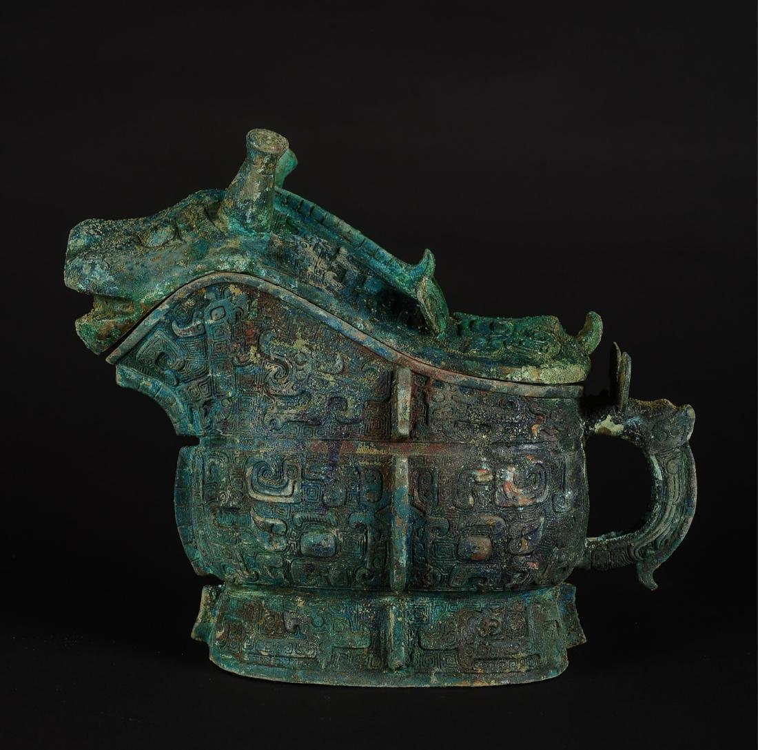 "CHINESE ARCHAIC BRONZE VESSELS ""GONG"""
