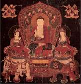 CHINESE BUDDHIST PAINTING OF AVATAMSAKA SUTRA
