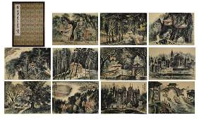 CHINESE PAINTING ALBUM OF LANDSCAPES, LI KERAN