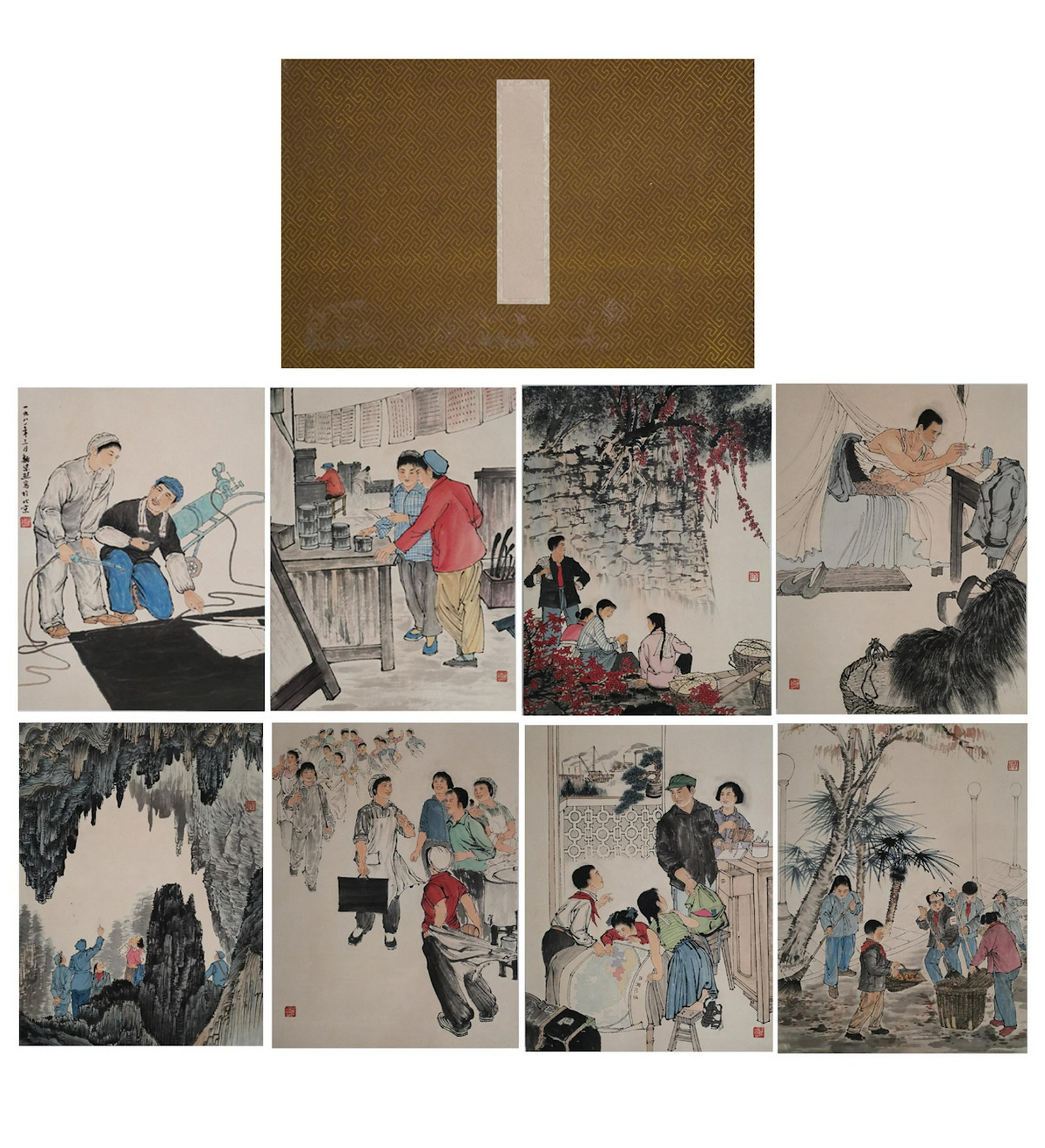 CHINESE PAINTING ALBUM OF CULTURAL REVOLUTION SCEN