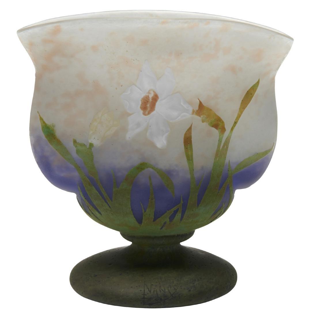 Daum Daffodil vase
