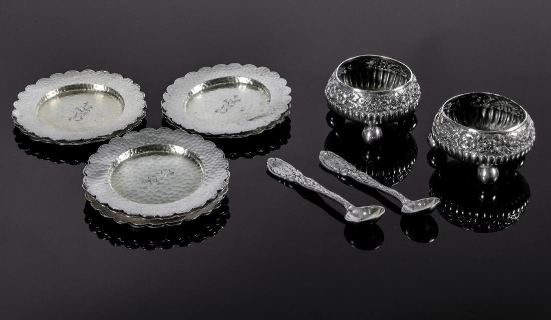 Tiffany & Co. salt cellars, spoons, plates