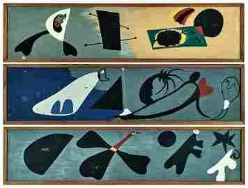 Joan Miro oil on paper