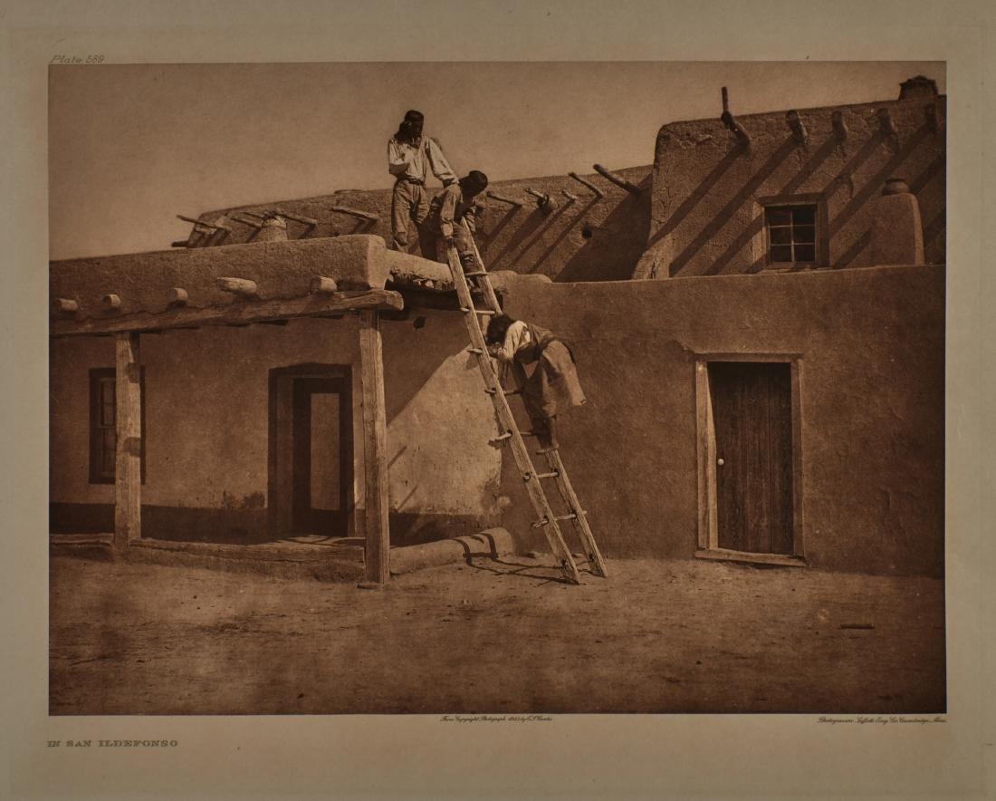 Group of 4 large format Edward Curtis photogravures
