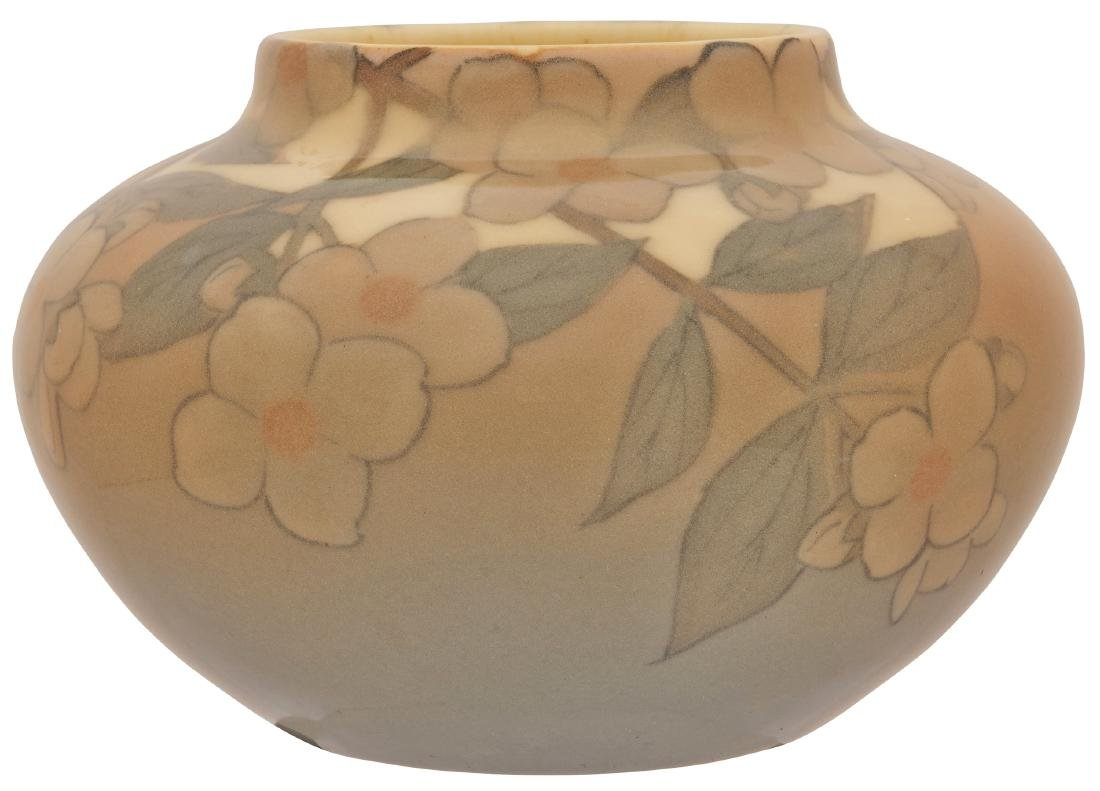 Kataro Shirayamadani for Rookwood Pottery Dogwood vase