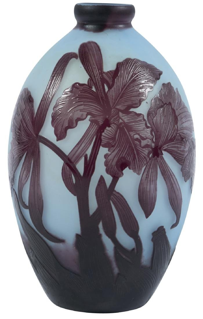 Andre Delatte Cattleya Orchid vase