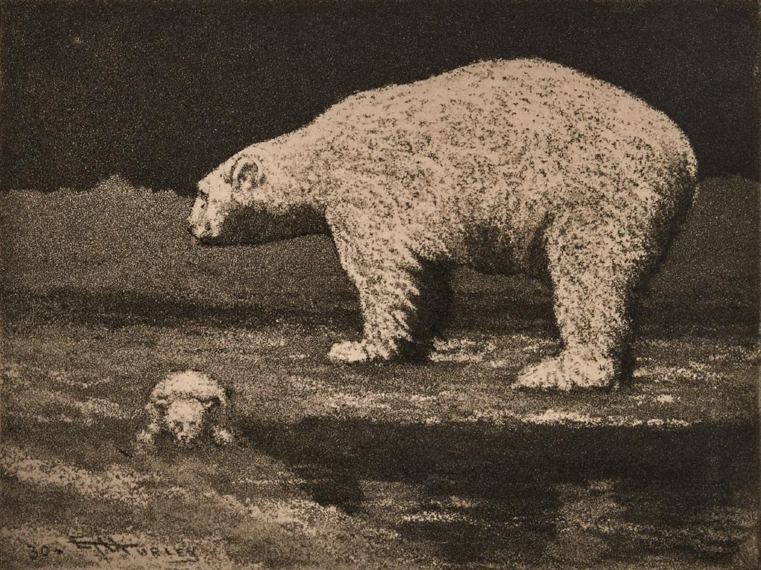 E.T. Hurley Polar Bear etching