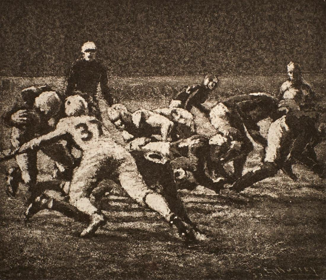 E.T Hurley Football etching