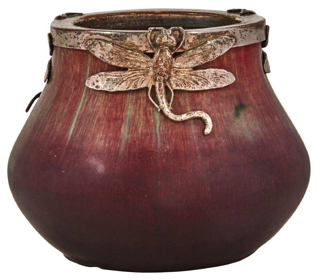 Eugene Baudin Dragonfly vase