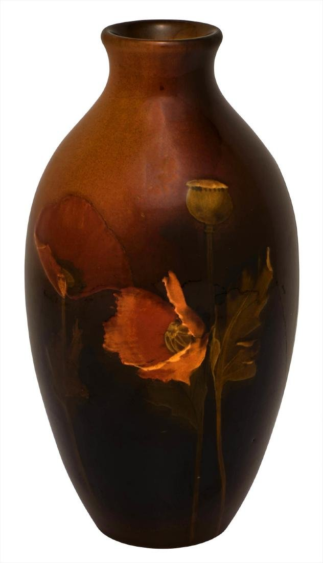 John D. Wareham for Rookwood Pottery Poppies vase