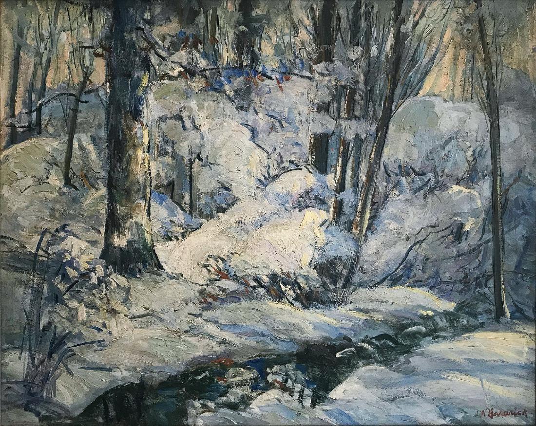 John Wesley Hardrick Winter Landscape