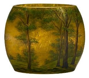 Daum Spring Scene vase