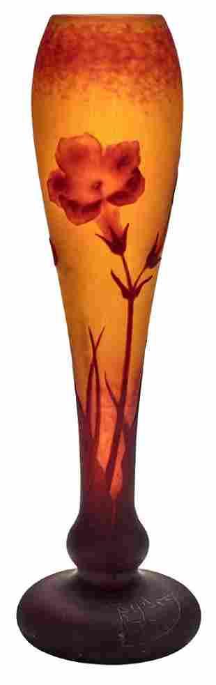 Daum Floral vase