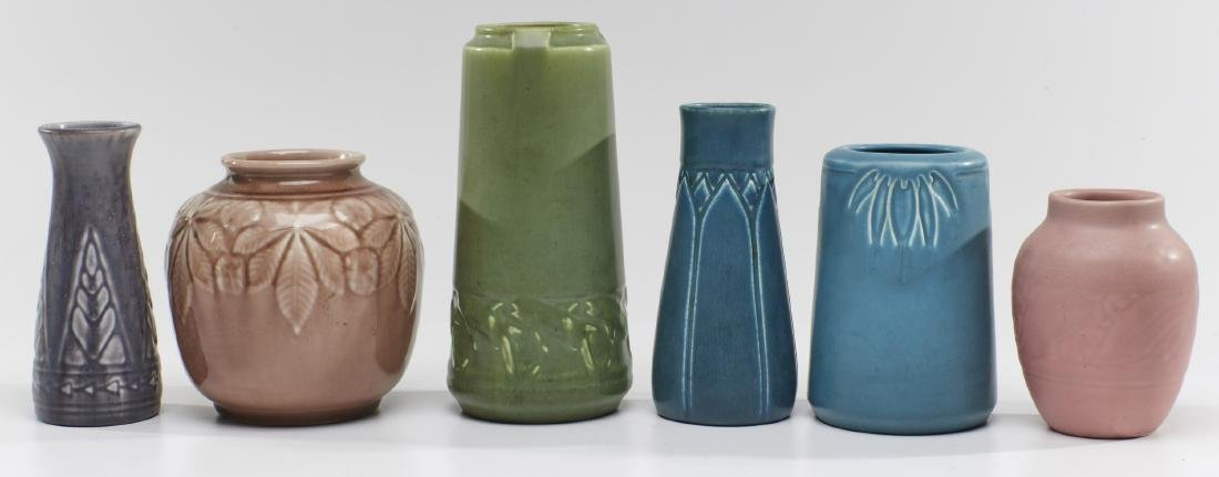 Rookwood Pottery, group of six