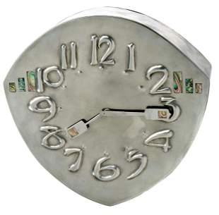 Archibald Knox for Liberty & Co. Tudric wall clock