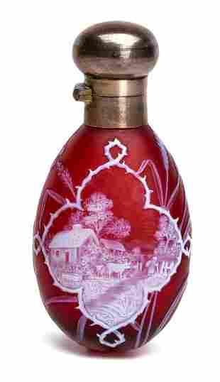 George Woodall for Thomas Webb & Sons perfume bottle
