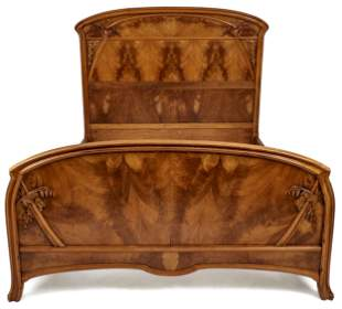 French Art Nouveau bed