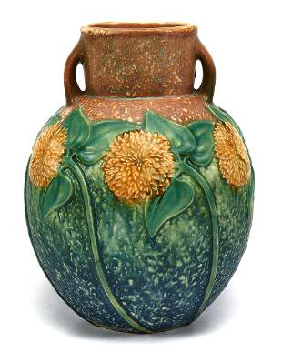 Roseville Pottery sunflower vase