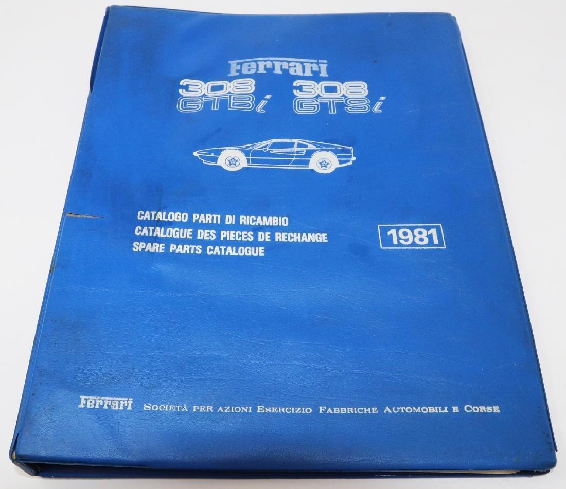 Ferrari Replacement parts catalog for 308 GTB i/308 GTS