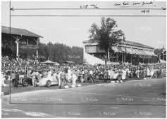 Grand Prix Italien 1934 Cars in start position Mercedes